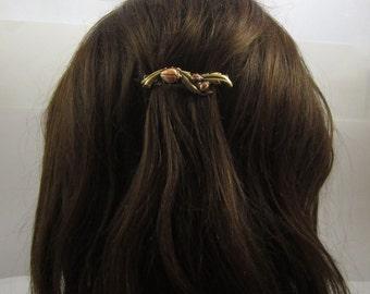 LADYBUG French Barrette 60mm- Ladybugs- Small Barrette- Summer Barrette- Hair Accessory- Hair Jewelry