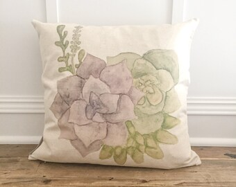 Group of Succulents Pillow Cover