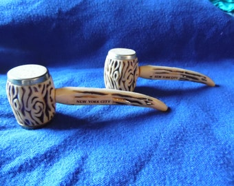 vintage pipe salt and pepper shakers from nyc