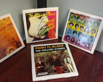 Rolling Stones Album Coasters