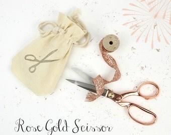 Rose Gold Scissor // Kreative Snips // Tailor Scissor // Embroidery Scissor