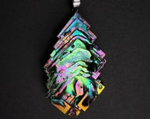 "Bismuth Crystal Necklace from ""Element of Eden"" line - Boho Jewelry from a Bismuth Geode Bismuth Jewelry by Element83 Element 83 Iridescent"