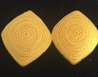 Yellow clip on earings