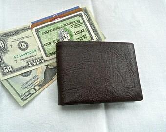 Vintage Wallet - Men's Wallet - Buxton - Leather Billfold - UNUSED Vintage Wallet - Pant Pocket Wallet - Brown Leather - Hipster - Gift Him