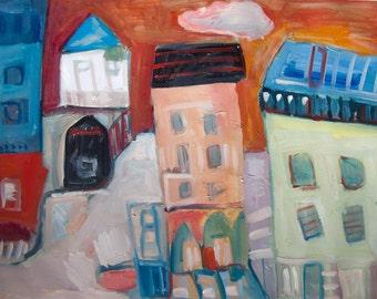 Oil Painting Modern Original Art  Impressionist Abstract Landscape BURKE