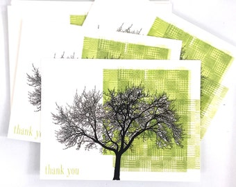 Tree Thank You Postcards / Flat Cards (6)