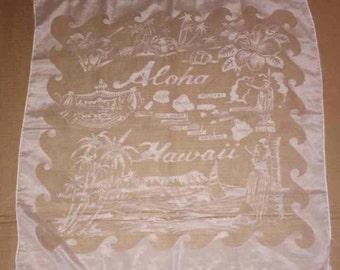 "Hawaii Souvenir Sheer Scarf Vintage Trendy Fashion 27"" x 27"""