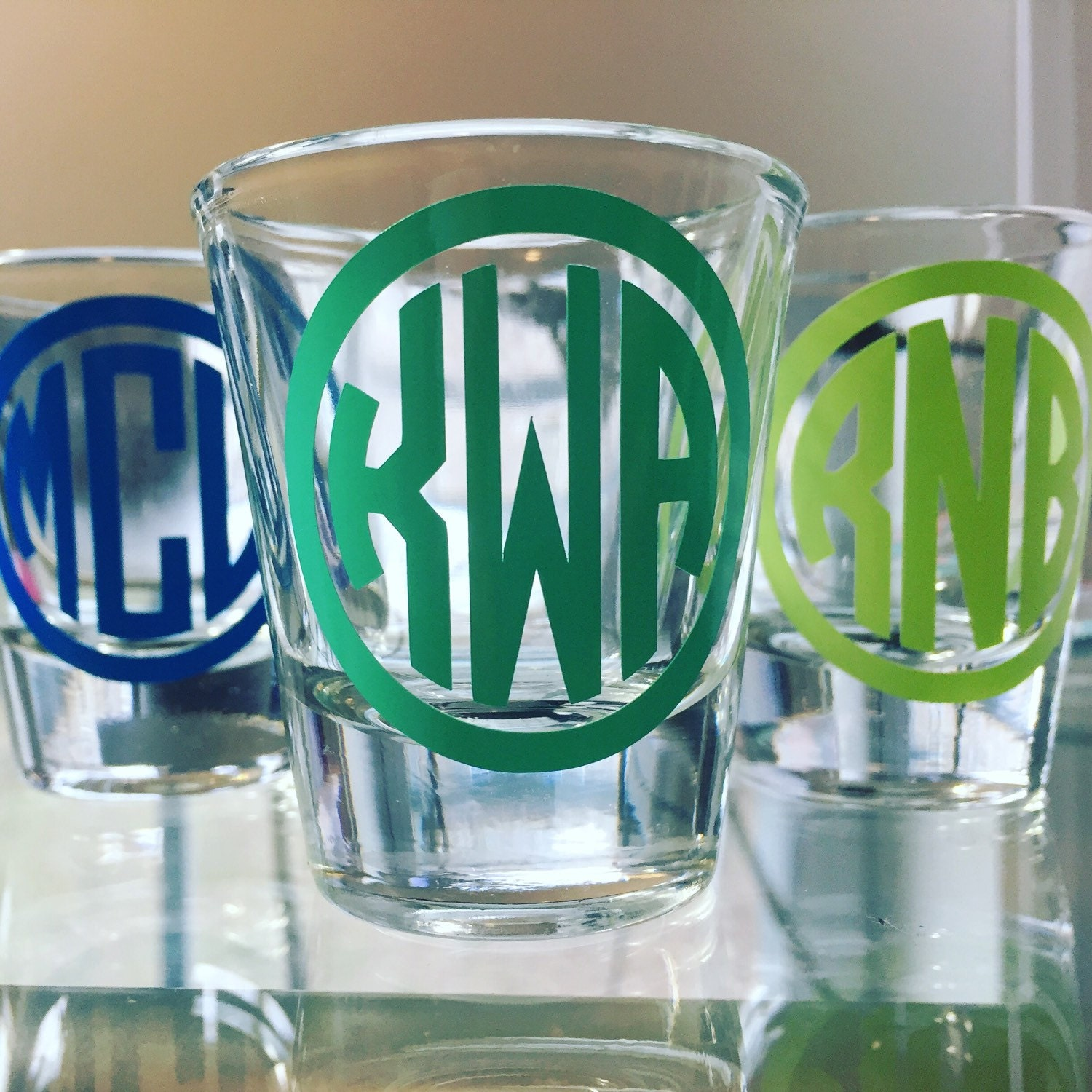 Monogrammed Shot Glass 21st Birthday Gift