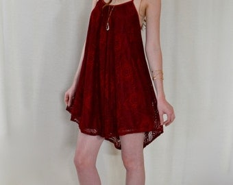 The Lily Dress in Red Wine