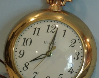 Abraham Levy Electric Wall Clock Vintage  WorkingTimepiece United Clock