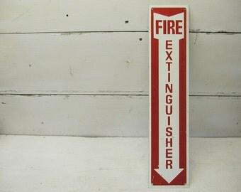 Vintage Fire Extinguisher Sign Fireman FireFighter Gift Metal Sign
