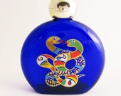 Vintage Cobalt Blue Glass Perfume Bottle, 4 oz Niki de Saint Phalle Perfume Bottle not miniature Intertwined Snakes