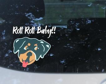 Rottweiler Dog Car Decal, Animal Lover Gift, Dog Rescue, Love My Dog, Dog Sticker, Bumper Sticker
