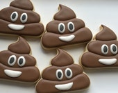 Custom cookies - poop emoji