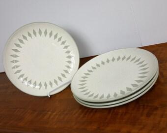 Set of 4 Harkerware Diamond Pattern Serving Plates
