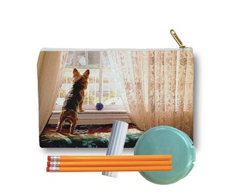 Clutch Bag Zippered Pouch Yorkie Yorkshire Terrier