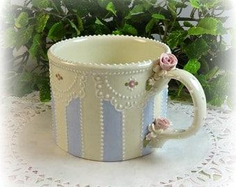 Striped Lace Mug