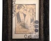 Framed Vintage Newsprint Art - Set of 2