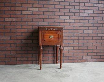 Nightstand / Vintage Nightstand / Antique Nightstand / Shabby Chic Nightstand / 1920-1940's era ~ Paint To Order ~