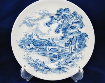 Enoch Wedgwood Countryside Dinner Plate, 2 Available, Hand Engraved, Unicorn Hallmark, # 547263, England