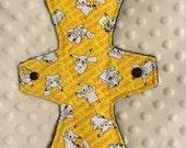 "10"" cotton top moderate cloth pad - yellow pokemon"