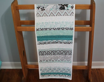 Modern Teal Table Runner
