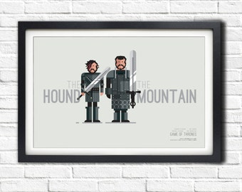 Game of Thrones - HOUND & MOUNTAIN - 19x13 Poster