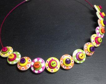 Spotty Sputnik Polkadot Choker Necklace Tutti Frutti