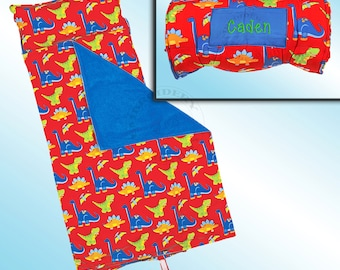 Dinosaur Nap Mat - All Over Printed - Personalized and Embroidered