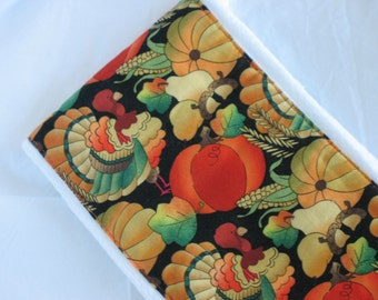 Burp Cloth-Handmade-Thanksgiving Turkeys Pumpkins-Super Absorbent-Great Baby Shower Gift-Fall Corn Gourds Wheat Leaves