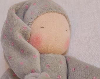 First Waldorf doll, birthgift, waldorf toys, cuddle doll