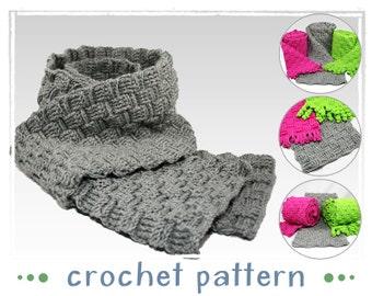 Weave-Style Scarf - Crochet Pattern