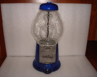 Pillsbury Dough Boy Blue Gum Ball Machine / Gum Ball Dispenser