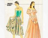 Evening Gown Sewing Pattern, Butterick 4657, Size 14, 16, 18, Uncut, Princess Dress
