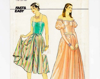 Evening Gown Sewing Pattern, Butterick 4657, Size 14, 16, 18, Uncut, Princess Dress