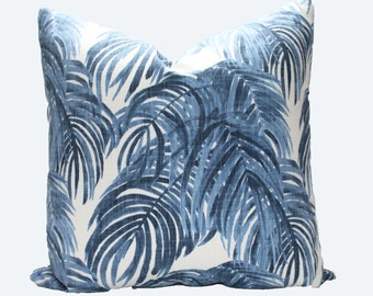 Decorative Designer Lacefield Villa Wedgewood Blue Pillow Cover, 18x18, 20x20, 22x22 or Lumbar Throw Pillow