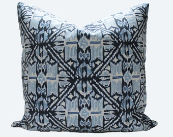 Decorative Designer Lacefield  Wedgewood Indigo blue Pillow Cover, 18x18, 20x20, 22x22 or Lumbar Throw Pillow