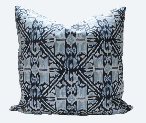 Decorative Designer Lacefield Wedgewood Indigo blue Pillow