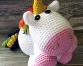 Unicorn - Enid Unicorn - Fluffy - Stuffed - Animal - Plush