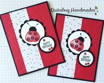 Stampin' Up! Birthday Card- Balloon Builder- Ladybug