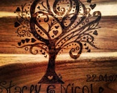 Personalised Pyrography Tree Of Life Chopping Board