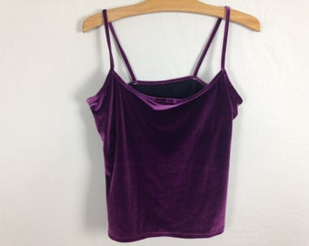purple velvet top size L