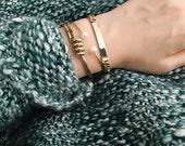 250GOLD -Wave Cuff Bracelet