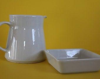 Kilta / Teema pitcher and small bowl by Arabia Finland