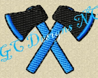 Small Crossed Axes Embroidery Design