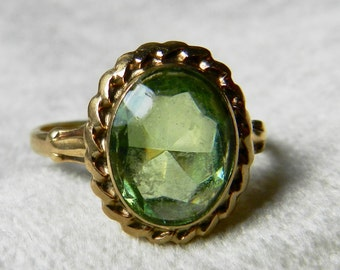 Art Deco Ring Antique Synthetic Spinel Deco Ring Unusual ring Deco Ring