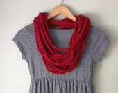 Red Scarf Necklace . Mid ...