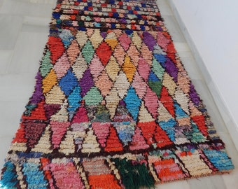 Sale! Harlequin Moroccan Boucherouite Rug | 3.8' x 6' | ships from USPS