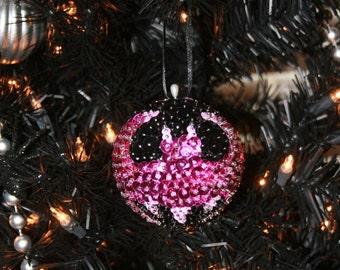 Pink Batman Beaded Ornament