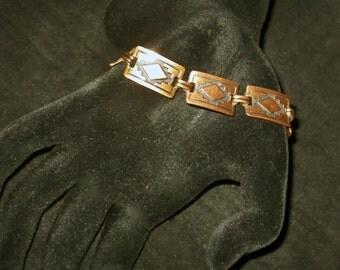 Native American Design Copper-Link Bracelet